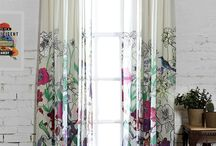Curtains and rugs