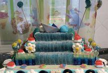 Cumpleaños y nacimientos by Kristy / Tartas de pañales y chuches