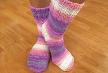 Ponožky pletené - socks www.jablicko17.cz