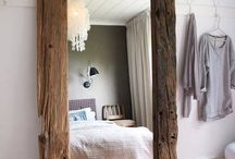 mirror frame in rustic