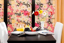 Flower Power / Casart Flower Power temporary wallpaper + Other Powerful Floral Inspirations