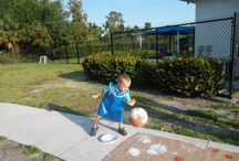 Outdoor Play for Children / Outdoor play is an excellent way for children to refine their large motor skills, become familiar with nature, and explore the world around them! We love coming up with fresh new ways to experience the outdoors!