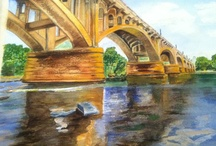 Watercolour / This is a bridge in Columbia SC / by Toni Williams