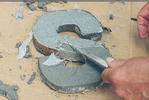 Concrete, plaster ideas