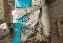 Paris & Eiffel Tower Themed Bedding