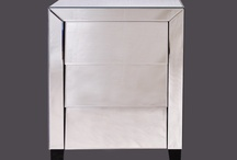 Modern Classic Dakota Mirrored Three Drawer Bedside Table