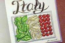 Рисунки Италии