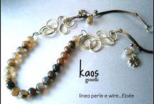 KAOS gioielli  linea perle e wire