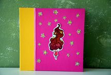 Handmade photo albums and quest books