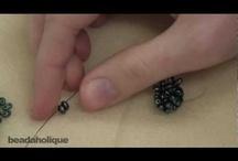 Peyote steh - šité korálky -videa / Korálkování