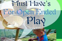 Kids play / Open ended play ideas