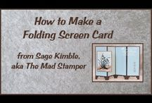 folding screen card