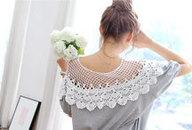 Lace / Crochet Knit Collars / by reasonstodress