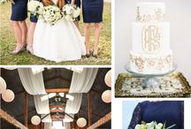 Navy Rustic Wedding Theme