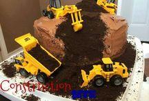 cake dump truck
