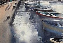 landscapes / watercolors
