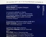 Osservatorio AUB: Presentazione Risultati Terza Edizione
