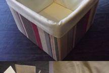 ricoprire cartoni con stoffa