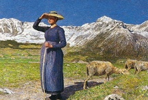 Segantini / A painter who had settled in Alpine.