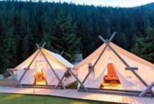 Camping / Camping ideas both glamorous and basic. Meals, activities, campers, tents and more. #camp #campers #glamping / by Vaughn Neff