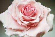 Flores modeladas en pasta de azúcar