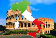 Italië / Impressiebord over Italië