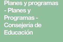 Planes y programas Consejería