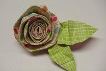 Flores tela, papel.....