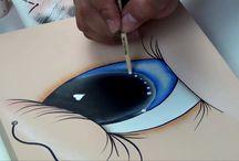 Como pintar ojos y otros