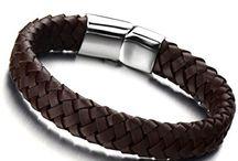 Mens Bracelet Leather by www.menjewell.com / PU Leather Bracelet For Men, Mens Bracelets Online,  Buy Mens Bracelets Online, Buy Designer Mens Bracelets Online,  Buy Traditional Mens Bracelets, Buy modern Mens Bracelets,Leather Bracelets for mens,www.menjewell.com