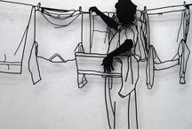 Teckna kläder med ståltråd