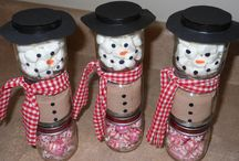 snowmen baby food jars