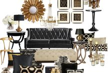 Interior Black & gold