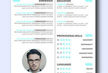 Modern Resume / Collection of remarkably smart resume templates Simple to Edit   Microsoft Word Ready   Creative Designs Invite