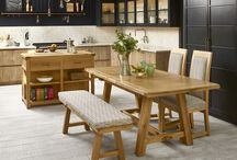 Frame Cabinet Collection / With bold and simple lines, Frame offers living and dining in a waxed natural oak finish.