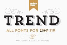 Typography: Fonts / by Sarah Ehlinger
