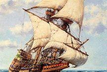 caravelas...Mayflower