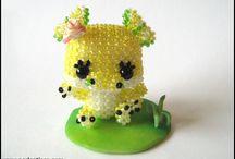 Perlenkunst-Eigenkreationen: Big-Heads und Sammelfiguren / Meine Eigenkreationen im Bereich der Perlenkunst - Big-Head-Dolls & Sammelfiguren