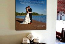 Beach Wedding ideas!! / Beach Wedding Decor Ideas, using your personalized letters, photos things that remind you about the day you got married on the beach. / by Geezees Canvas Art