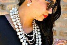 Pretty in Pearls / Everything pearls! You can find these pearls on necklaces, shoes, earrings, rings, and more!