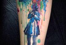 Tatuaje acuarelă