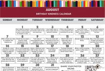 Monthly Birthday Kindness Calendars