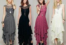 vestidos elegantes e dinâmicos