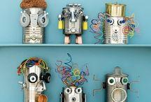 robotit,kierrätysmateriaali