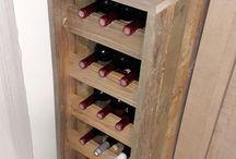 Porte bouteille en bois de palettes