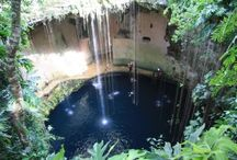 Best cenotes in the Yucatan Peninsula / Scratch the surface of Yucatan and you're likely to uncover a watery treasure-filled world beneath. Dotting the landscape across the peninsula are hundreds of giant sinkholes or cenotes.