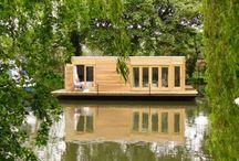 Maisons sur l'eau écologiques