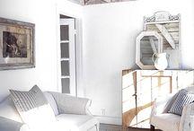 Rustic white interiors