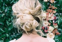 Isabelle's wedding hair