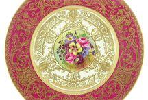 12 Royal Worcester Porcelain Floral Service Plates